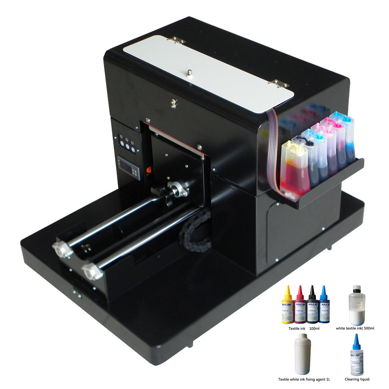 T shirt printing machine A4 size dtg flatbed printer machine for print clothes Tshirt with textile ink