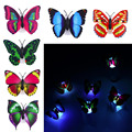 Intermitente Mariposa Colorida luz de la noche de las luces de noche de Interior de iluminación Decoración Del Partido decoraciones de Navidad LED de La Noche