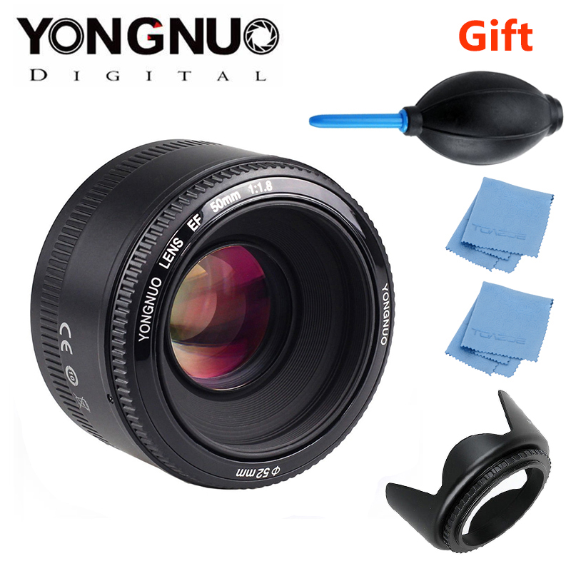 YONGNUO YN50mm f1.8 YN EF 50mm f/1.8 AF/MF Lens Large Aperture Auto Focus for Canon EOS DSLR Cameras yongnuo yn 50mm lens fixed focus lens ef 50mm f 1 8 af mf lense large aperture auto focus lens for canon dslr camera pouch bag