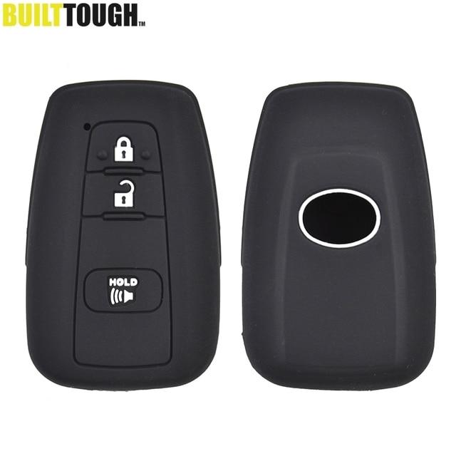 2 3 pulsante chiave della copertura del silicone fit for toyota