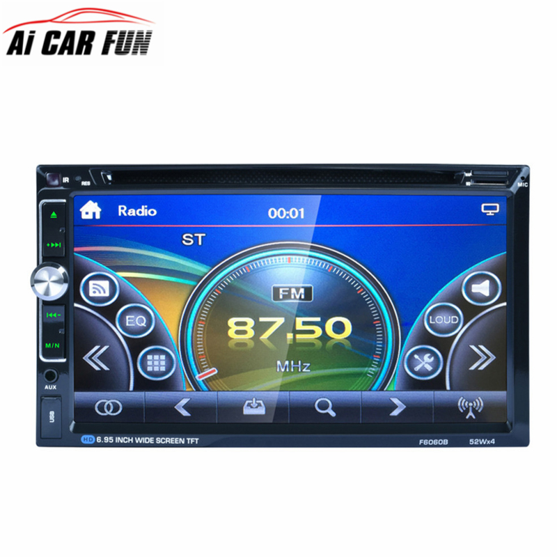 F6060B Universal Car Vehicle 7 Inch Large Touch Screen Display Dual Din DVD Player Multimedia Player Car Entertainment цена и фото