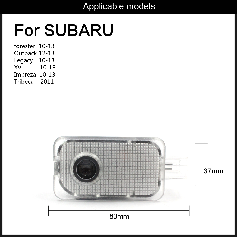 2 Door Courtesy Laser Projector Light for Subaru OutBack Legacy Forester IMPREZA Tribeca XV direct fit