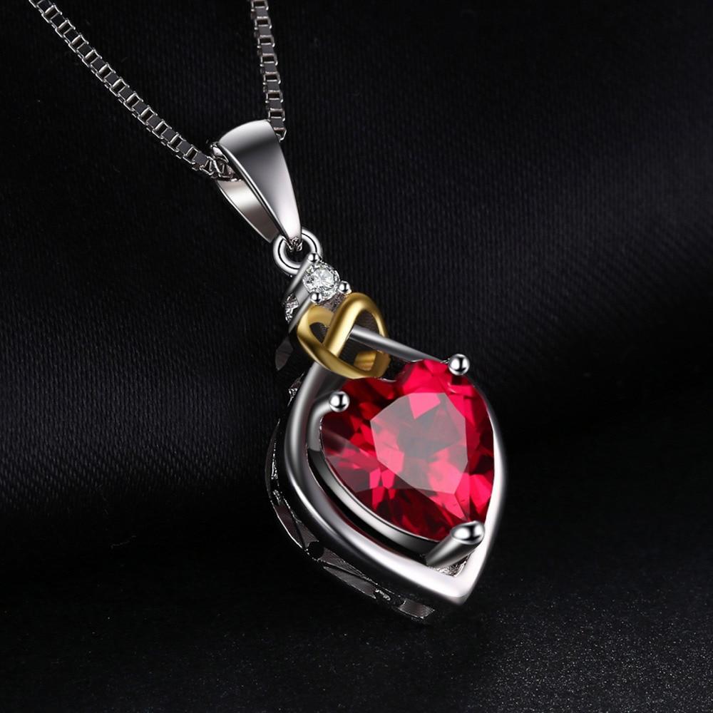 JewelryPalace 2.5ct Yarış Qırmızı Yaqut Kolye 925 Sterling - Gözəl zərgərlik - Fotoqrafiya 2
