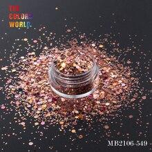 TCT-168, Шестигранная форма, смешанный размер, блеск для ногтей, для украшения ногтей, блеск для тела, макияж, роспись лица, хна, макияж, ручная работа, сделай сам