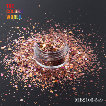 TCT-168 sześciokąt kształt Mix rozmiar paznokci brokat do zdobienie paznokci dekoracje ciała brokat makijaż twarzy malowanie Henna makijaż Handwork DIY tanie i dobre opinie Bincon 50g 120g 200g 240g 500g 600g 1 12 Bag Glitter Sequins Hexagon 12 Kinds Different Colors Plastic Bag