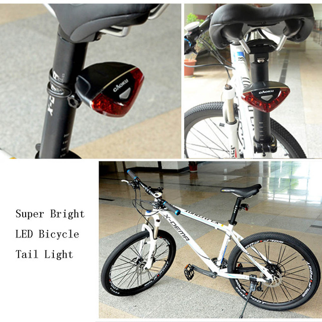 Super Bright 5 LED Bicicleta Bike Light 4 Modes Red Bicycle Rear Light Rainproof Cycling Seatpost Lights Tail Lamp