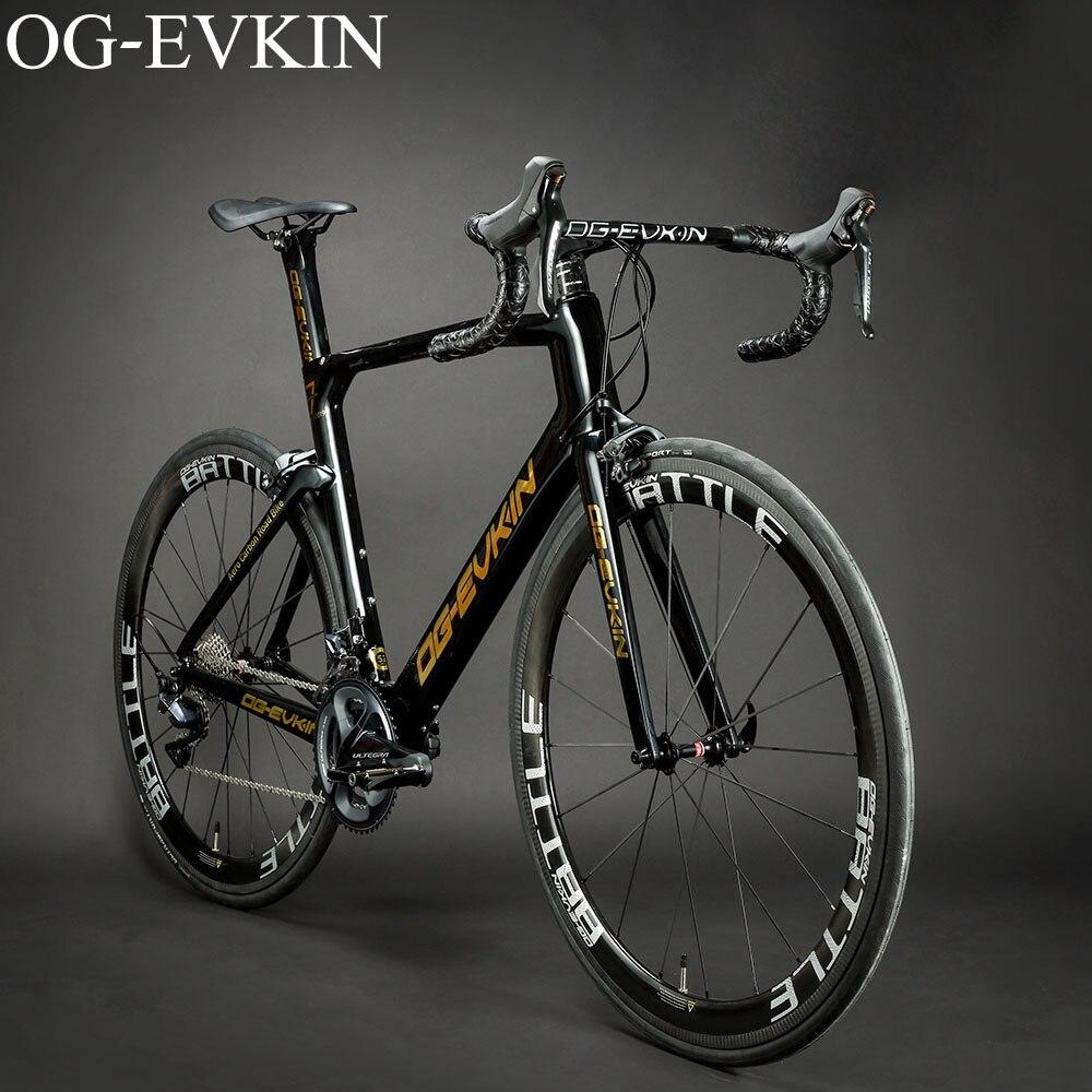 Nouveau vélo de route en carbone brillant UD carbone complet vélo route 700C roues vélo v-brake OG-EVKIN 2019