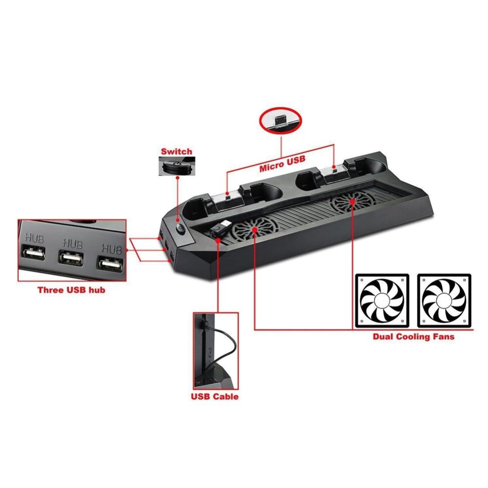 Für PS4 Kühler Mutilfunction Lüfter Kühler Vertikale Ständer für PS4 ...