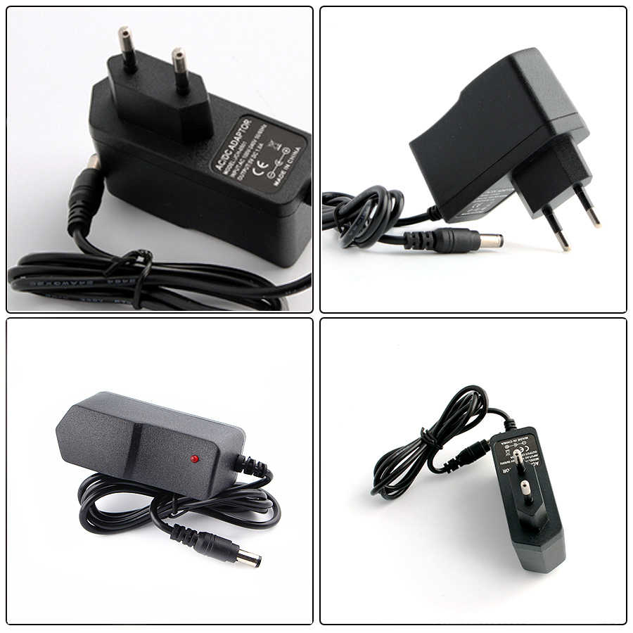 Power Adapter DC 12V 5V 1A 2A 3A 5 V 12 V Adaptor Power Switching Charger  Supply EU US Plug 220V To 12V For Led Strip Light Lamp