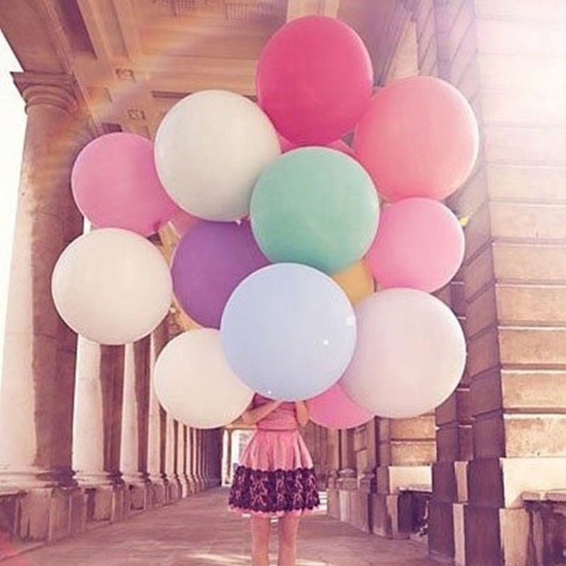 Giant Balloon Colorful Blow Up Ball Balloon Helium Inflable Latex  Balloon For Wedding Birthday Party Decoration 36 Inch