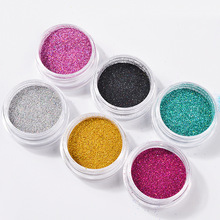 2g/box Holographic Laser Nail Glitter dip powder Chrome Pigment Dust Decorations Art DIY Manicure Designs
