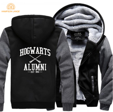 HAMPSON LANQE Hogwarts Brand Mens Hoodies 2019 Winter Warm Fleece High Quality Sweatshirts Casual Raglan Sleeve Coat Jacket Men