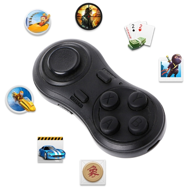 1pc New Black Wireless Bluetooth Gamepad VR Remote Controller For PC/Smart TV/IOS/Android