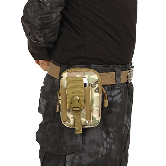 Military Waist Bag Men  Army Fanny Pack Casual  Mobile Phone Belt Bag Travel Waist Pack Zero Purse