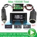 Digital Car Voltmeter ammeter DC current Voltage meter wattmeter voltimetro electric tester battery 12 Volt capacity detector