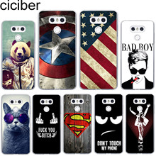ciciber For LG G7 G6 G5 G4 V40 V35 V30 V20 THINQ Soft Silicone Phone Case Cool Panda TPU For LG K8 K10 K4 2017 2018 K9 K11 Plus