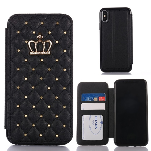 3f333ae60a15 PU Leather Flip Phone Case For iPhone XS Max XR X Wallet Card Luxury Cover  Fashion Cute For iPhone 8 7 6S 6 Plus 5 5S SE Cases