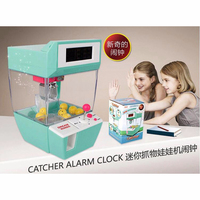 Coin Operated Candy Grabber Doll Toy Balls Catcher Crane Machine Clock Board Game Electronic Mini Desktop Claw Machine Kid Gifts