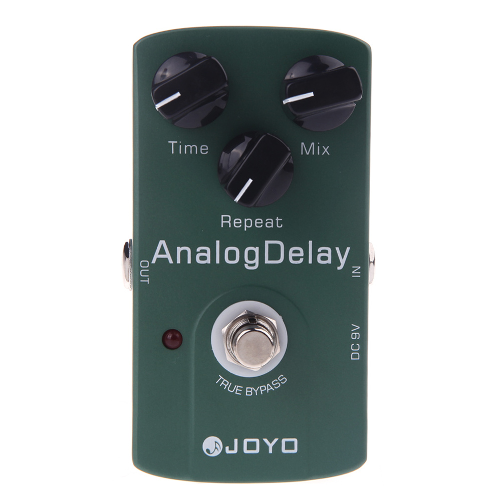 High Quality Analog Electric Guitar Effect Pedal True Bypass Delay Guitar Stompbox Integrant aroma adl 1 true bypass delay electric guitar effect pedal high quality aluminum alloy guitar accessories delay range 50 400ms