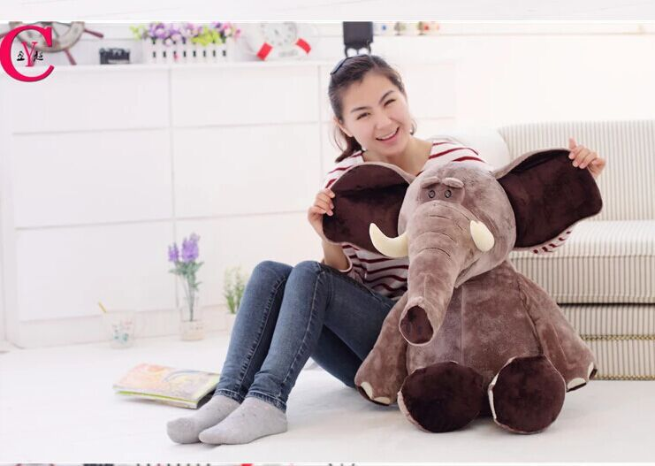 big creative Plush elephant toy lovely Stuffed jungle elephant gift doll about 80cm 0212 stuffed animal jungle lion 80cm plush toy soft doll toy w56