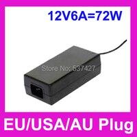 12 V 6A 72 W Adaptador LED 1.2 Metro Comprimento DA UE/EUA/AU plug AC86 ~ 264 V entrada com 5.5mm DC Conector Macho