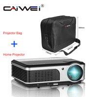 TV LED LCD Nhà Máy Chiếu + Máy Chiếu Bộ Túi Home Theater Movie 1080 P HD Movie Hiển Thị Kênh Full HD LED Beamer Đa Phương Tiện