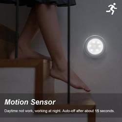 Branco frio 6led led sob a luz do armário pir sensor de movimento nightlight bateria lâmpada magnética para quarto armário escadas lâmpada de parede