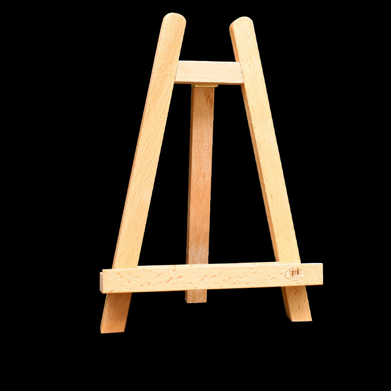 High quality mini desktop children easel durable advertising frame beech wooden sketch easel adult drawing stand display holder clear acrylic a3a4a5a6 sign display paper card label advertising holders horizontal t stands by magnet sucked on desktop 2pcs