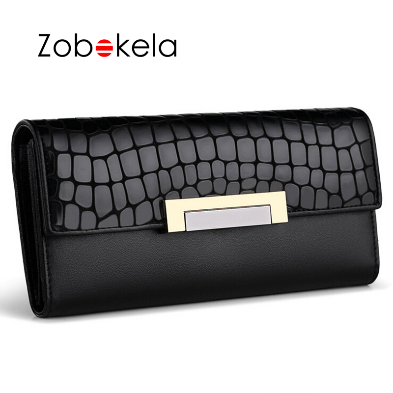 ZOBOKELA Women wallets female Long Clutch wallet card holder passport cover women Coin purse luxury brand Handy phone money bag simple organizer wallet women long design thin purse female coin keeper card holder phone pocket money bag bolsas portefeuille