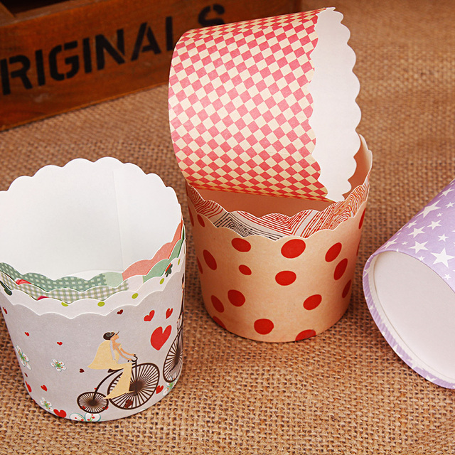 48pc / set Vogue Cake Baking Paper Cup Cupcake Muffin Cases Cups Home Party