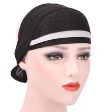 Donne Musulmane Stretch Turbante Berretto Cappello Cap Chemo Perdita di  Capelli Testa Sciarpa Wrap Hijib Sombrero 88f838cb8e3a