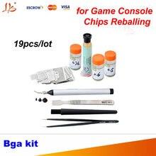 19 шт. непосредственно с подогревом BGA трафарет Комплект игровой консоли реболлинга для xbox/PS3/WII GPU cpu