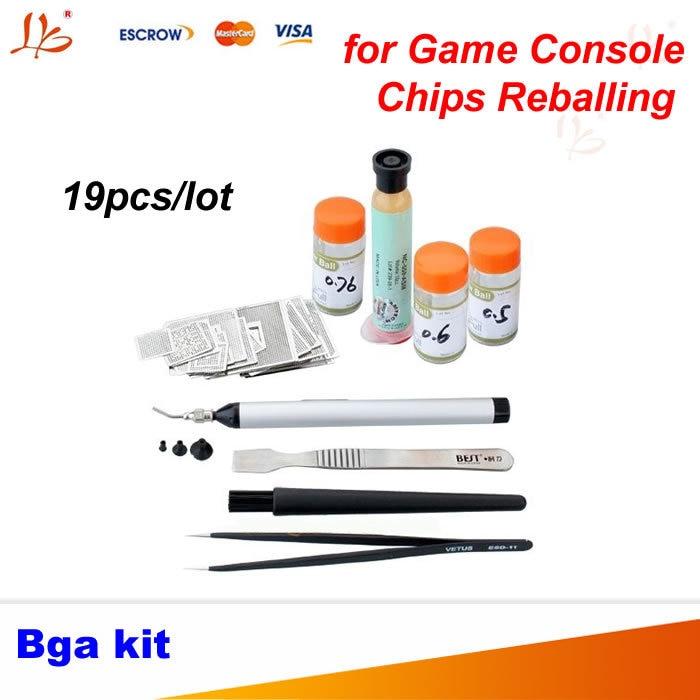 19 Pcs Directly Heated BGA Stencil Kit Game Console Reballing For XBOX/PS3/WII GPU CPU