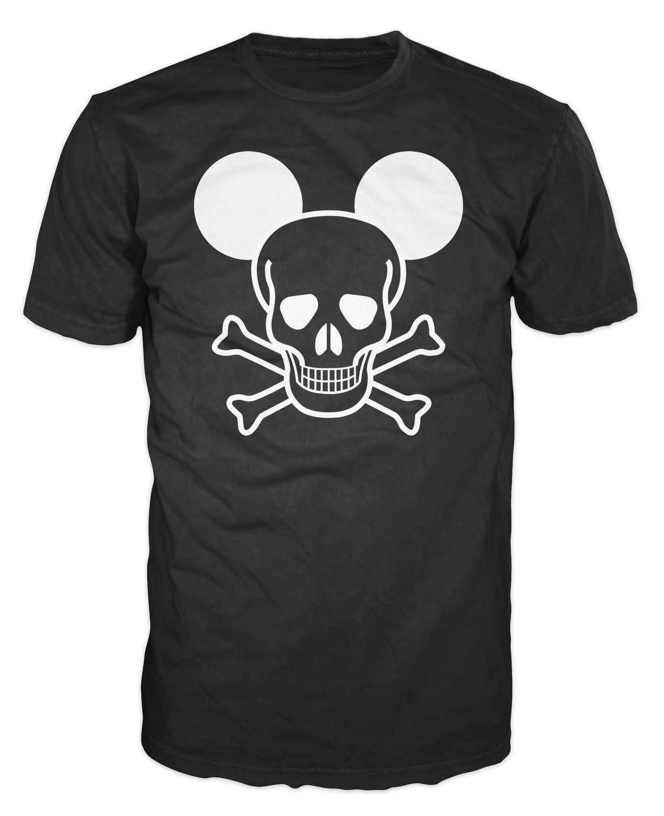 Crossbones & Skull with Ears Funny Joke Spoof Biker Bad Funny Print Tops Men top tee