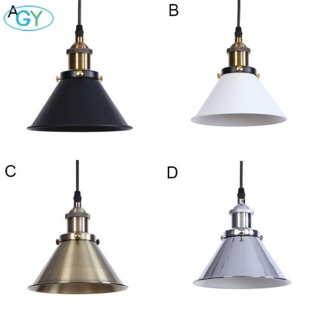 America Style Pendant Lighting Fixtures Black White Oil Bronze Chrome Finish Kitchen Lamp Modern Farmhouse