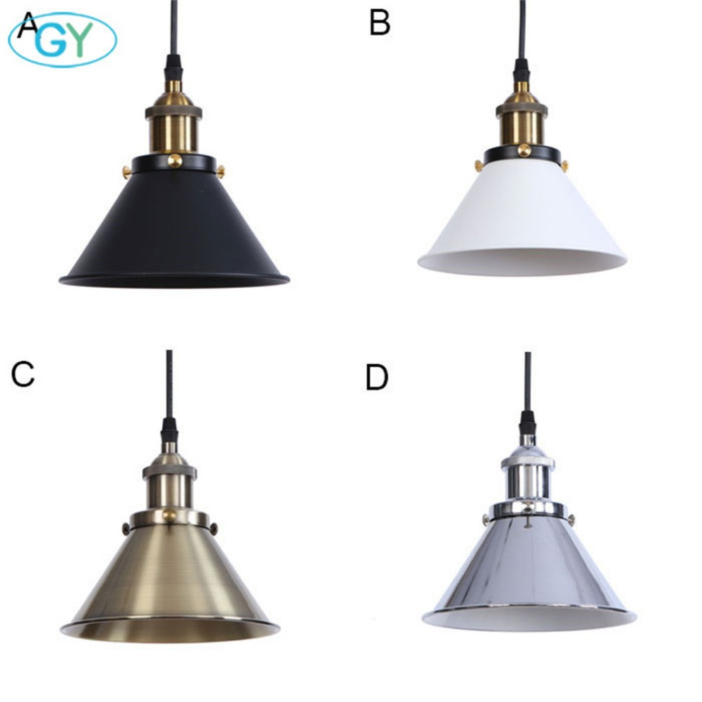 America style industrial pendant lighting fixtures black white oil bronze chrome