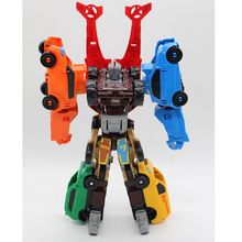 NEW Tobot 7 In 1 Transformation Robot Toy Anime Tobot Character 7 Cars Merge Deformation Robot Model Childs Toys New Year's Gift(China)