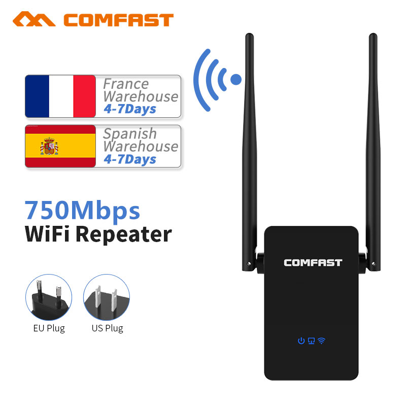 Comfast WIFI Router WiFi Repeater 750 Mbps 2.4G/5GHz Dual Band wifi signal extender APP Control WiFi Wireless Router CF-WR750 v2
