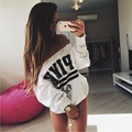 Sweatshirt Women Autumn Winter Fashion Sexy Off Shoulder Hoodies Cotton Long Sleeve Ladies Tops Casual Letter Printed Pullovers