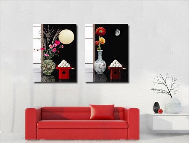 Yang Modern Lukisan Minyak Gambar Seni Dicetak Jepang Makanan Bunga Hias Kanvas Untuk Ruang