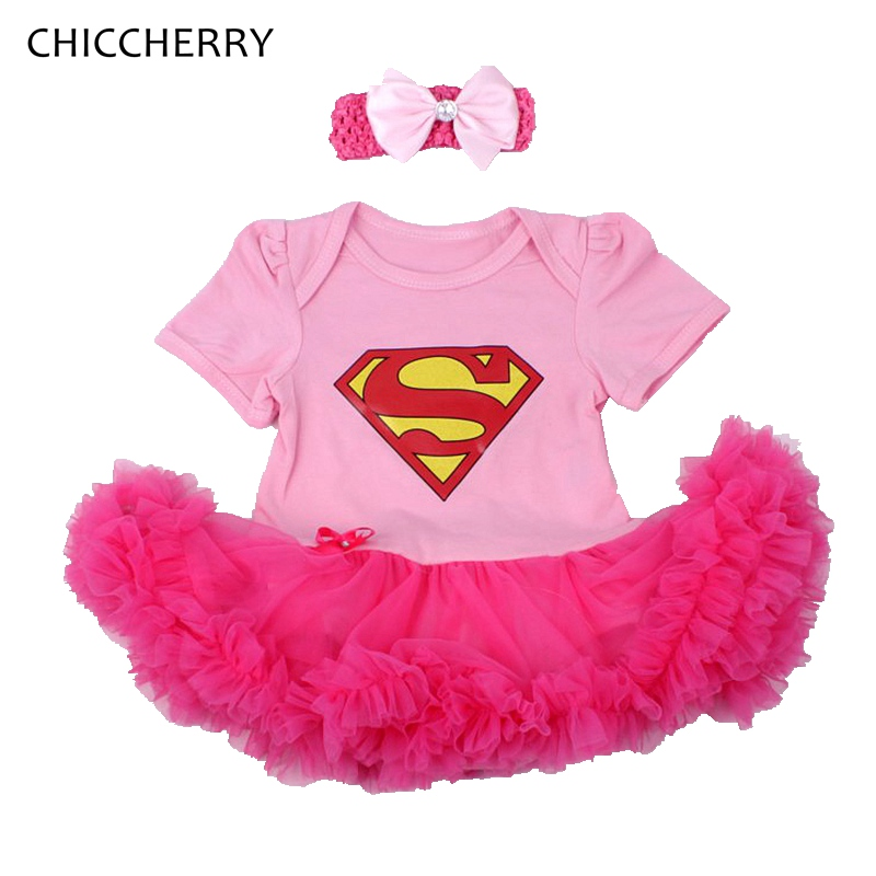 Cute Superman Baby Girl Clothes Pink Lace Romper Dress Headband Newborn Tutu Sets Halloween Costume For Kids Christmas Outfits top power laptop backpack men women for 15 6inch notebook computer rucksack school bag fashion waterproof large capacity bag
