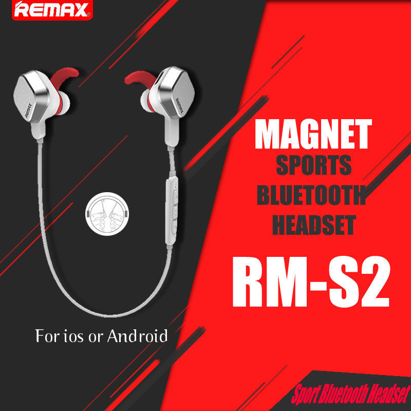 Original Remax S2 Ear Buds Unique Magnet Selfie Bluetooth Headset Wireless Sports Earphone Universal Stereo Headphone For Iphone Headphones For Mp3 Player Headphones Fashionheadphones Cool Aliexpress