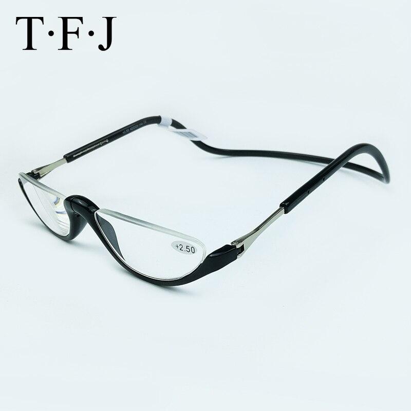 Leitores Óculos de Leitura unissex Metade Sem Aro Dobrável Magnética + 1.0  1.5 2.0 2.5 3.0 Pescoço Ajustável Pendurar Óculos De Plástico do ímã em  Óculos de ... 2d44855adb
