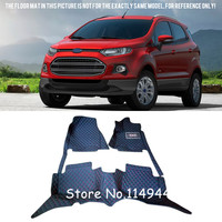 For Ford EcoSport 5 seats 2013 2016 Durable Special Waterproof Custom Car Floor Mats Full Set