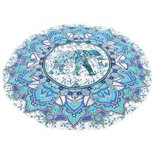 Arte indio Mandala Boho Playa Tiro Redonda Toalla Estera Tapiz Colgante de Pared Decoración