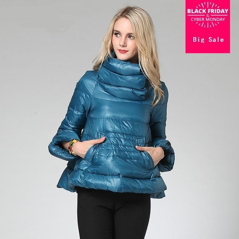 Commercio all'ingrosso 2018 nuovo inverno di marca di modo Coreano versione A-parola caldo e sottile piumino corto femminile cappotto wj1449 trasporto libero