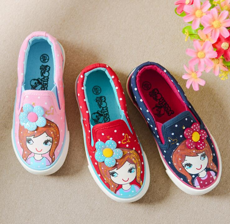 Girls Canvas Shoes 2019 New Spring Breat