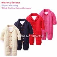 Winter Baby Romper Infants Cotton padded Out Wear Fleece Christmas Costume Toddler Girl Warm Clothing Roupas De Bebe Snow Wear