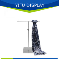 Free Shipping Matt Silver Tie Display Stand,Brushed Silver Scarves Display Stand