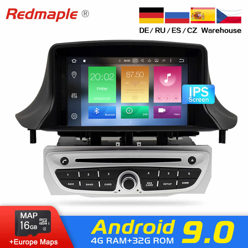 Ips Layar Android 9.0 Car Radio Dvd Player Multimedia Stereo untuk Renault Megane 3 Fluence 2009-2015 WiFi Video gps Navigasi